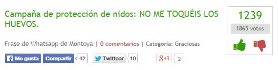 Campaña de protección de nidos: NO ME TOQUÉIS LOS HUEVOS.